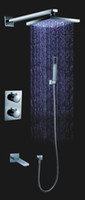 Wholesale all the copper inch LED thermostatic shower set