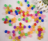 10mm gumball beads - mm Mixed Colors Jelly Acrylic Beads Rondelle Chunky Beads Plastic Gumball Beads g