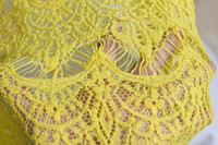 Wholesale yellow dress fabrics cm cotton wedding dress lace fabric green water soluble solid flowers stack of heavy industries