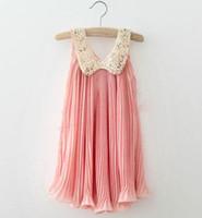 Wholesale 13 new Korean version of children s clothing child skirt sleeveless dress chiffon pleated skirt children dress in summer