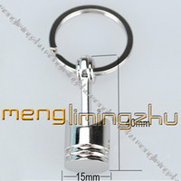 Wholesale Metal Piston Key Chain Keyring Rings D