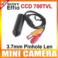 CCD Indoor Waterproof / Weatherproof Mini Bullet 3.7MM Hole Security Hidden Sony CCD effio-e CCTV HD Camera