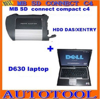 Wholesale New super mb Star C4 Sd Connect Compact plus latest Xentry software dell630 Laptop freeshipping Alice
