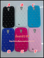 Wholesale Diamond crystal rhinestone Silicone soft gel Case skin cover cell phone fashion rubber bling cases for Samsung I9500 Galaxy S4