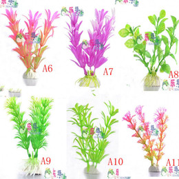 10pcs Fish tank simulation plants landscaping aquarium decorative landscaping plants aquarium fish tank ornament plastic plants