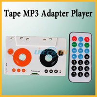 Wholesale Car Auto Tape Cassette SD MMC MP3 Adapter Player Remote Control
