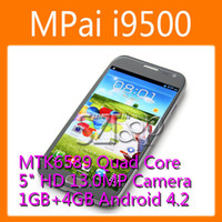 Wholesale MPai i9500 Smartphone Android MTK6589 Quad Core Inch HD Screen GB GB MP Camera G GPS Bluetooth