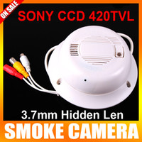 Wholesale Sony CCD TV mm Lens Working Smoke Camera Real Smoke Detector Alarm CCTV Camera