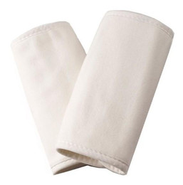 Wholesale baby carriers matching TEETHING PAD PAIR CREAM Perfect for teething gum pair Cotton Terry Cloth Teething Pads