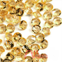 Wholesale 2000 mm Gold Acrylic Diamond Confetti Table Scatters Bridal Shower Favor Vase Fillers