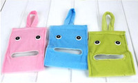 Wholesale factory price new cartoon cloth towels pumping tissue bag gustless toilet paper storage bag