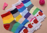 baby scoks - BB11 Pairs Fashion Colorful Striped Socks baby Children s Girls Boy Scoks Cotton Summer