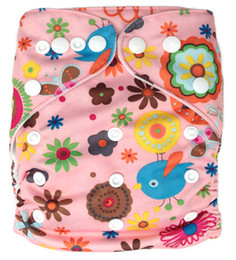 Wholesale 2013 New Design Cartoon Prints Newborn Cloth Diapers Washable Without Insert AnAnbaby Nappies