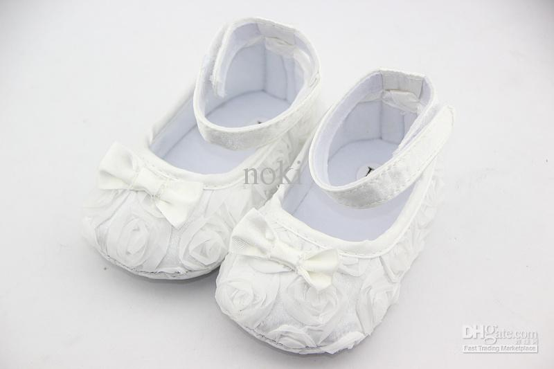2017 White Mary Jane Baby Shoes,Girls Toddler Soft Sole With Rose ...