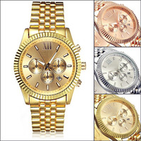Wholesale NEW Hot el MK Stainless Steel Men s Watch with calendar colors