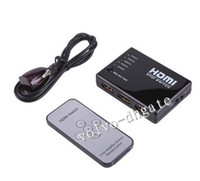Wholesale Mini Port P Video HDMI Switch Switcher Splitter for HDTV PS3 DVD with IR Remote set DK1883