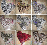 Wholesale Woman sought after worldwide Leopard Scarf Warm shawl new