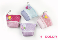 Wholesale CUTE Small Flowers dots Coin Purse Lovely Coin Bag Money Bag Puse Coin Wallet Children s wallet chiildren bag girl bag