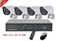 Wholesale 4CH full D1 H DVR Security System with Four Indoor Outdoor Night Vision Security Cameras H066