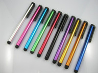 Wholesale Stylus Pen for Apple iPhone IPAD Pen For iPad iPod Touch Pen For Android Tablet PC Capacitive Pen For Samsung Galaxy HTC