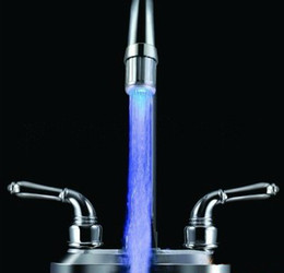 Wholesale Best price Glow LED Light Water Faucet Tap Automatic Colors Change No Battery