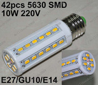 Wholesale O55 W LED SMD E27 GU10 E14 Corn Light Bulb V Energy Saving Lamp