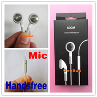 Wholesale Good Quality Earphone W Mic For Apple IPhone G S C S IPod IPad Earbuds Headset Headphone White With Retail Package DHL