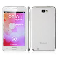 Quad-Band Bar WCDMA I9220 N8000 5.0 Inch Dual Core Smart Phone Android 4.0 OS MTK6577 1.0GHz 3G WCDMA TV GPS WiFi Dual Camera