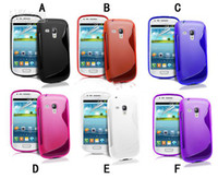 Wholesale 100pcs Soft S line TPU Gel Case Cover For Samsung Galaxy S3 mini I8190