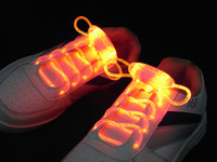 Wholesale 100pcs pairs rd Gen LED shoelace flashing shoelaces shoe lace laces with Rugby shape OPP packing FEDEX UPS