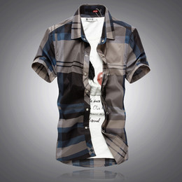 Wholesale 2013 hot selling Black base male slim plaid shirt