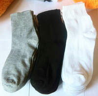 Wholesale Polyester cotton male sports sock hot cakes product cheap socks leisure socks men white black gray