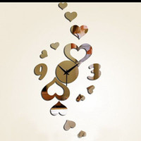 Wholesale Clocks Wall Clocks mirror clock windmill acrylic sheet wall stickers wall clock