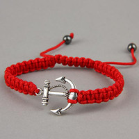 Wholesale 50 off The New Arrival Anchor Shape Hand woven Bracelet Adjustable Jewelry Friendship Christmas Gift