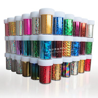 Wholesale New Fashion Nail Wraps Art Transfer Foils Set Nail Art Sticker Nail Decoration rolls Free Shipment