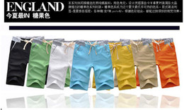 Wholesale 2013 Hot Summer Casual Linen Blend Korean Style Waistline Colors Drawstrings Men Pants M L XL XXL XH