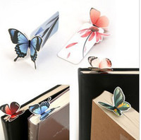 Wholesale Freeshipping New cartoon butterfly Bookmarks Book marks Office amp School Paper clip