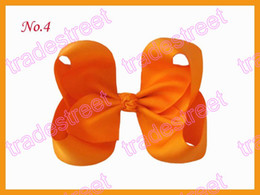 free shipping 30pcs 6.5Inch ABC Hair Bow clip fashion girl boutique hair bows fashion clips