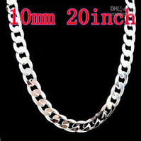 Wholesale 925 Silver Necklace mm inch For Men s Curb Necklaces Fashion Jewelry