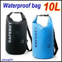 Wholesale 10L Water Resistant Waterproof Dry Bag For Canoe Kayak Rafting Camping Drifting Storage Bags Retail