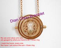 Pendant Necklaces turner - Harry Potter Time Turner k gold necklace Horcrux harry potter fans gifts HARRY POTTER NECKLACE BAB131