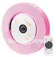 Wholesale DHL Newest Wall HI FI CD Player mp3 Audio With Controller CD U Disk Player FM Radio