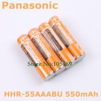 Wholesale 4pcs Original New Rechargeable AAA battery mAh HHR AAABU For Panasonic Cordless Phone