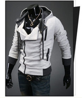 Wholesale 100 cotton Assassin s Creed Desmond Miles Hoodie Costume Coat Jacket Cosplay Hoodie