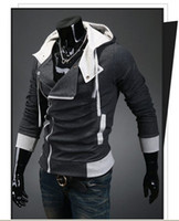 Wholesale 100 cotton Assassin s Creed Desmond Miles Hoodie Costume Coat Jacket Cosplay Hoodie