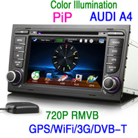 Wholesale KS1084 INCH HD Car DVD GPS Player for Audi A4 Build in Navigation Free Map DVB T WiFi G IPOD Radio