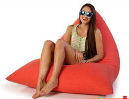 Wholesale Triangular Chair Bean Bag Cover With Liner Without Filling chinapostair