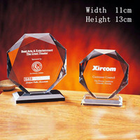 crystal glass award - 2015 New Cut Facted Crystal Trophy Medal Height cm Honor Souvenir Glass Trophy Award Crystal Blank Plaques for Winners Meeting Supplies