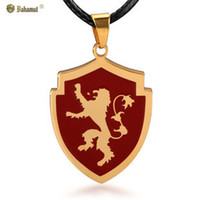 animal house badge - A Song of Ice and Fire Game of Thrones The House of Lannister Lion Badge Necklace Pendant
