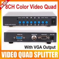 Wholesale 8 Channel Digital Color Quad System VGA OUT Video Processor Splitter BNC Switcher for CCTV System